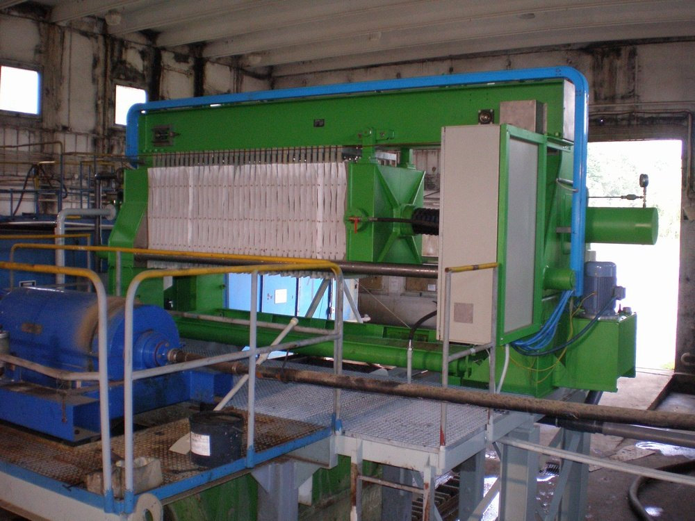 Replacement the centrifuge for filter press<br />